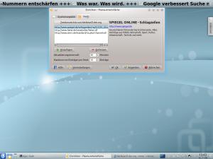 Konfigurationsdialog des NetNewsTicker